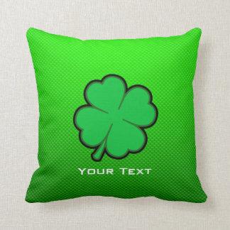 Green Four Leaf Clover Pillow