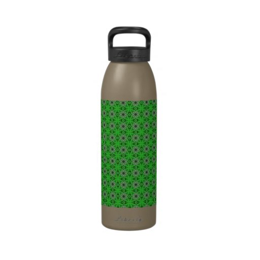 Green Four Leaf Clovers Reusable Water Bottle