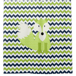 Navy And Green Shower Curtains | Zazzle