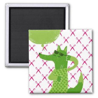 Green fox refrigerator magnets