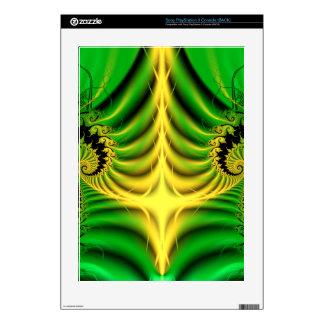 Green Fractal Abstract PS3 Skin