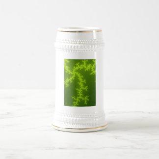 Green Fractal Beer Stein