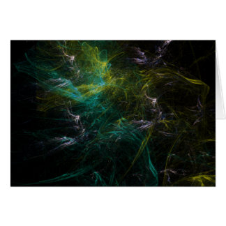 Green fractal card