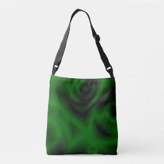 Green Fractal Crossbody Bag