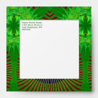 green fractal design envelopes