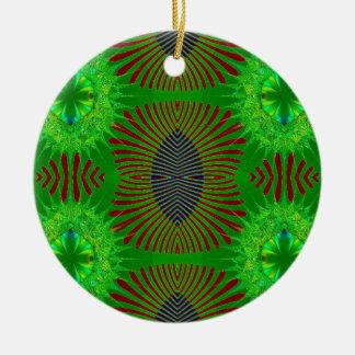 green fractal design ornament