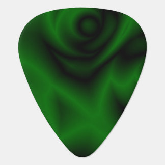Green Fractal Guitar Pick