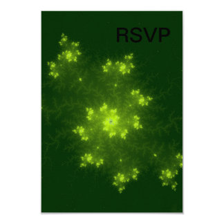 Green Fractal Personalized Invites