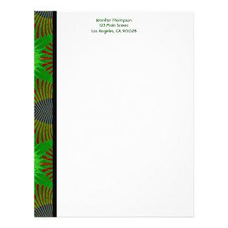 green fractal letterhead