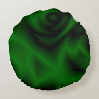Green Fractal Round Pillow
