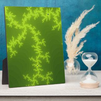 Green Fractal Plaque