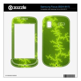 Green Fractal Skins For Samsung Focus