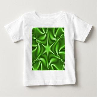 Green Fractal Starflower Baby T-Shirt