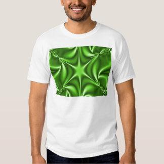Green Fractal Starflower T Shirt