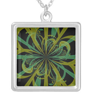 Green fractal tentacles necklace