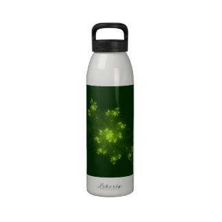 Green Fractal Reusable Water Bottles