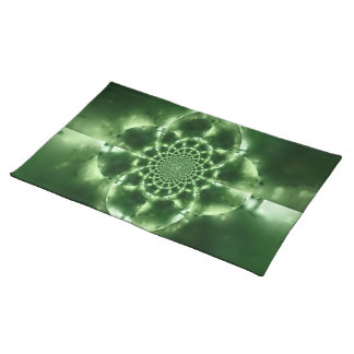 Green Fractals American MoJo Placemat