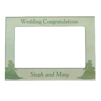 Green Frame - Mint Rustic Vintage Lesbian Wedding