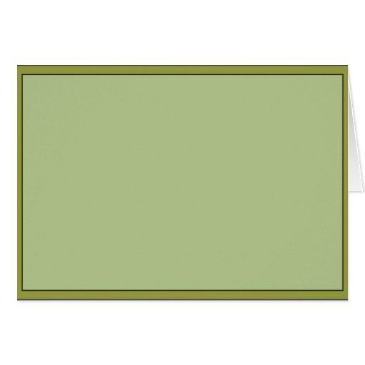 green frame post card
