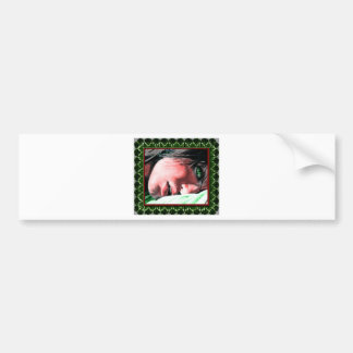 green framed  green eyed beauty bumper sticker