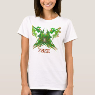 Green Free Butterfly T-Shirt