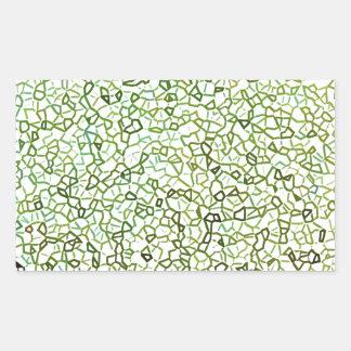 Green Freeform Geometrics Rectangular Sticker