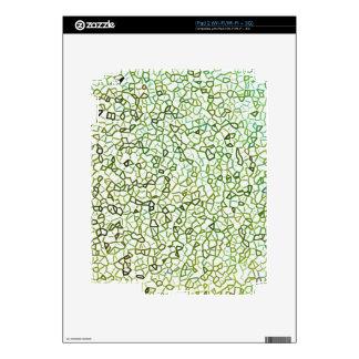 Green Freeform Geometrics Decals For iPad 2