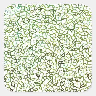 Green Freeform Geometrics Square Sticker