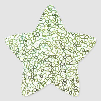 Green Freeform Geometrics Star Sticker