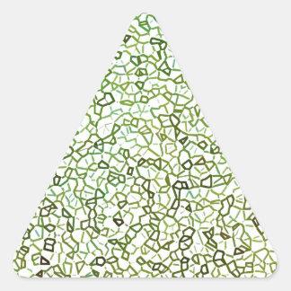 Green Freeform Geometrics Triangle Sticker