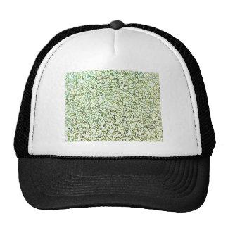 Green Freeform Geometrics Trucker Hat