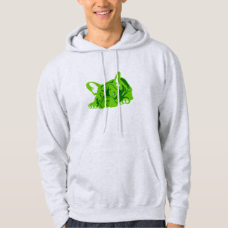 Green French Bulldog Hooded Pullover