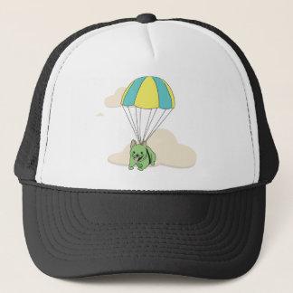 Green French Bulldog Umbrella Fun Hat