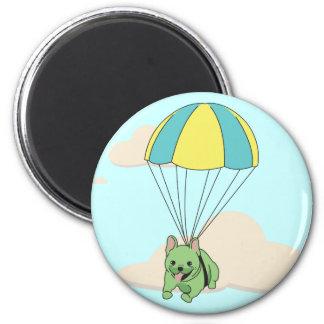 Green French Bulldog Umbrella Fun Magnet