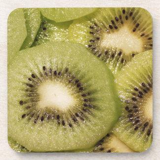 Green Fresh Kiwi Fruit Design Drink Coaster