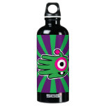 Hand shaped Green Friendly Alien Baby Tooth Aluminum Water Bottle