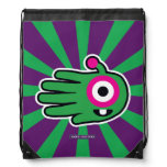 Hand shaped Green Friendly Alien Baby Tooth Drawstring Bag