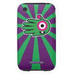Hand shaped Green Friendly Alien Baby Tooth Tough iPhone 3 Case