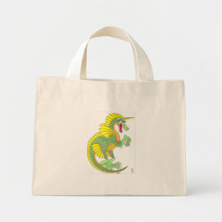 Green Frilled Dragon Mini Tote Bag