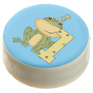 Green Frog 1st Birthday Dipped Oreos