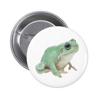 Green Frog 2 Inch Round Button