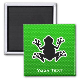 Green Frog 2 Inch Square Magnet