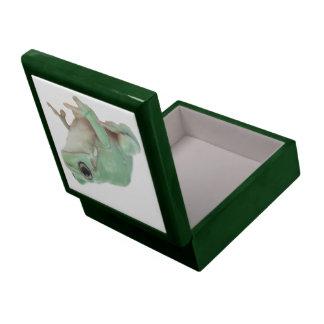 Green Frog  6X6 Keepsake Boxes