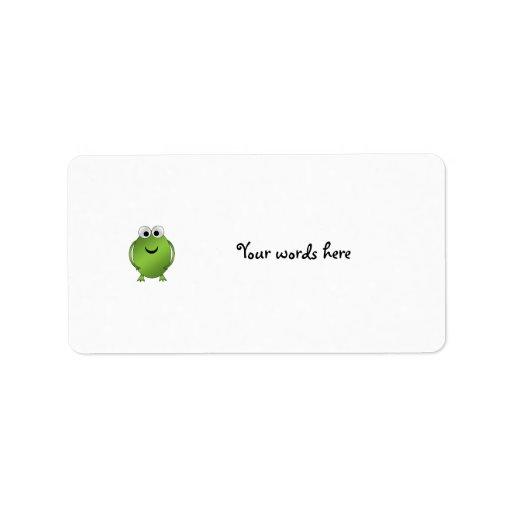 Green frog address label
