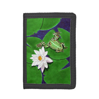 Green Frog and Water Lily Wallet