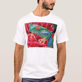 Green Frog Animal Art Painting - Multi T-Shirt