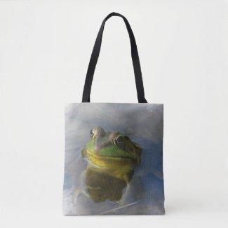 Green Frog Animal Tote Bag