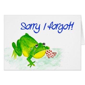 Green Frog Belated Birthday Card
