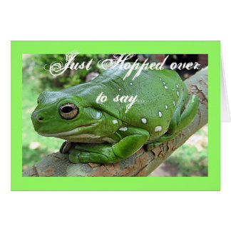 Green Frog Birthday Card