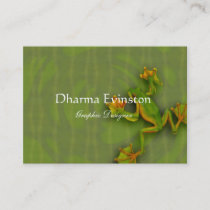 Green Frog Business Card